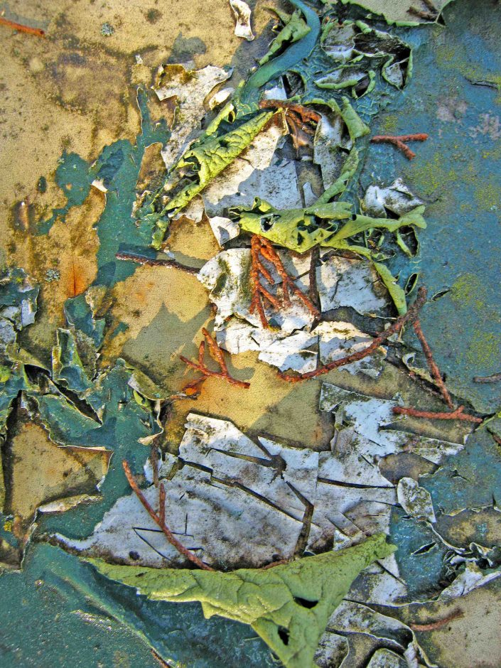Cracked and Peeling Paint on Old Lawn Furniture