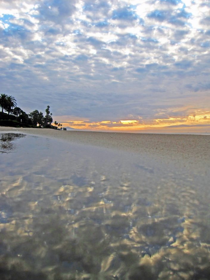 Reflection in Wet Beach Sand
