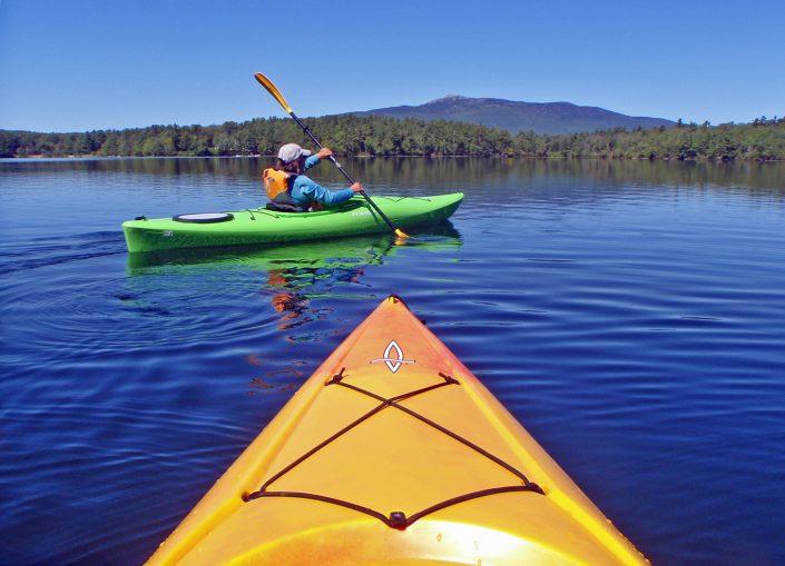 Kayaking a New Hampshire Lake