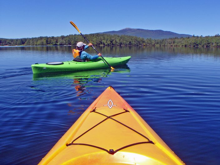 Kayaking a New Hampshire Lake