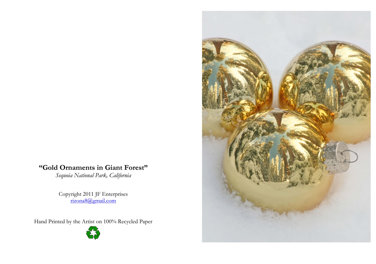 Gmail themes holiday - 3 Gold Orbs In Snow