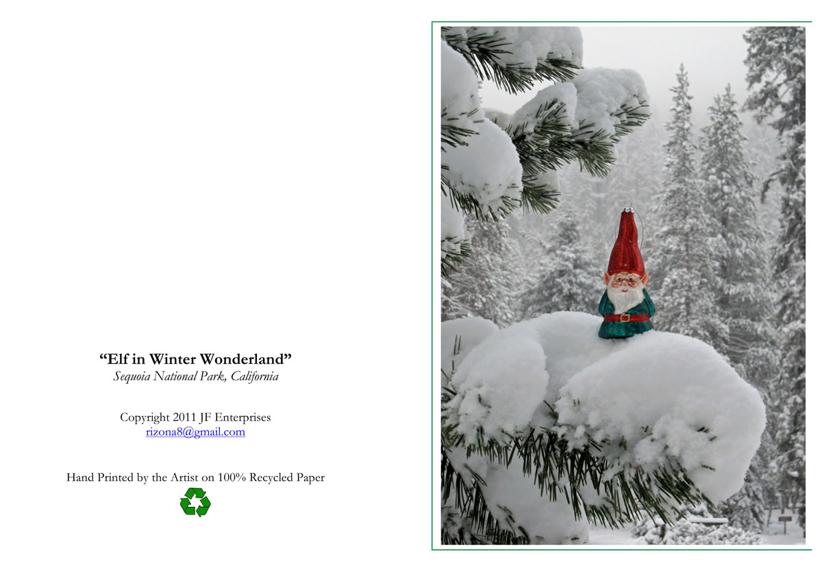 Gmail themes holiday - Elf In Snow