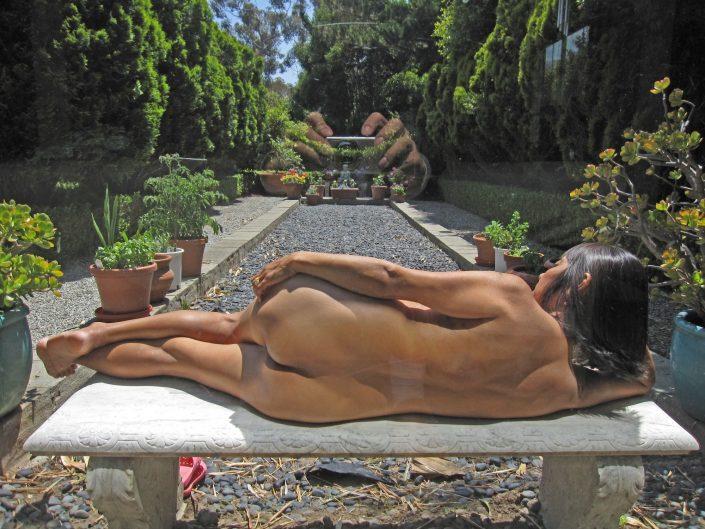 Relaxing In Her Garden