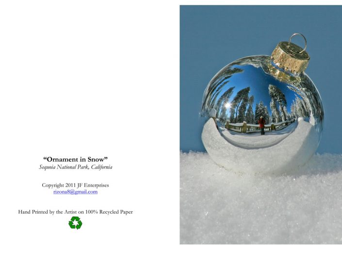 Single Orb in Snow