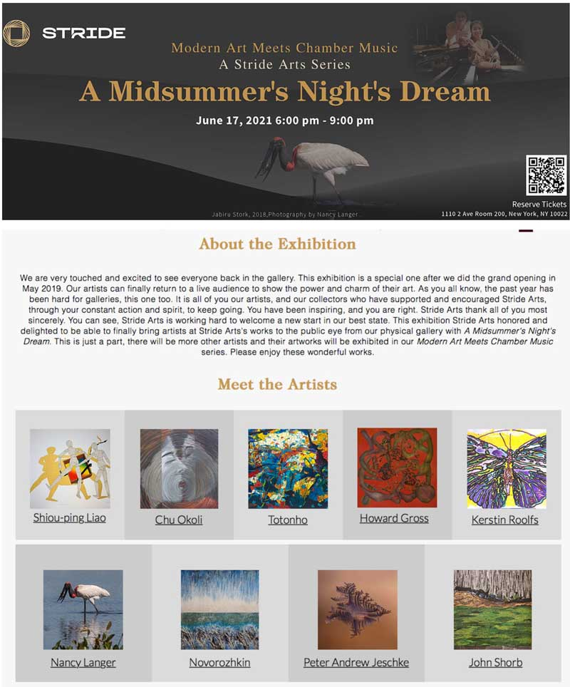 Mid summer night's dream - art show